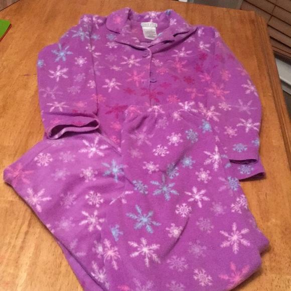 Girls fleece pajamas size 7 8 like new condition dc11d2725